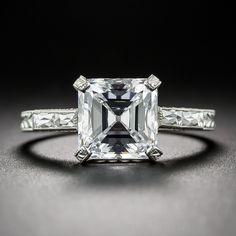 2.84 Carat 'D' 'IF' 'Golconda' Diamond Ring - 10-3-2765 - Lang Antiques