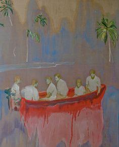 Peter Doig, Figures in Red Boat, 2005-2007