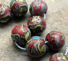 polymer clay beads by storiestheytell