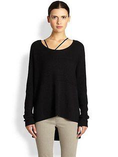 Helmut Lang  Plush Hi-Lo Sweater <<>> Saks Fifth Avenue