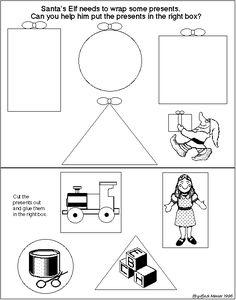 Christmas worksheet shapes