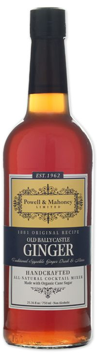 One Incredible Ginger Flavor for your New Jersey Hoiday Cocktails: Old Ballycastle Ginger | Powell & Mahoney