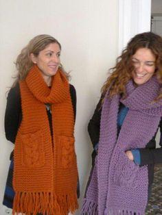 Nuestras bufandas..#knitting