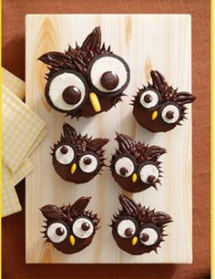 Good Ideas For You | Easy Owl & Werewolf Cupcakes- too cute!