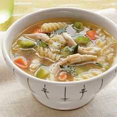 Gluten-Free Soup | Quick Chicken Noodle Soup | CookingLight.com -- delicious and always makes you feel good inside