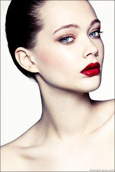 Tanya. Photo by: Zhang Jingna models, lipsticks, makeup, red lips, beauti, beauty, photography, blues, eyes