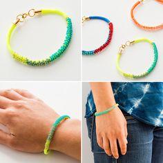 DIY: beaded bracelets