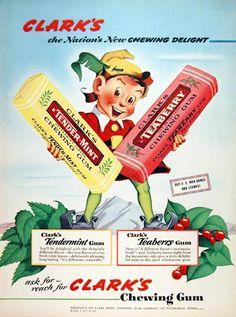 Clark's gum ad