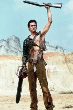 Ash Williams - From ARMY OF DARKNESS (1992) This is Ash. And this is his BOOM STICK