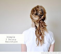A Messy 3-Twist HairstyleTutorial - Home - Creature Comforts - daily inspiration, style, diy projects + freebies