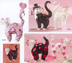 whimsiclay cats by willits love cats