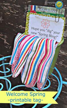 Welcome Spring free printable tag! #gifts #printable