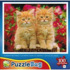 """PuzzleBug """"Garden Kittens"""" 100 Piece Jigsaw Puzzle $5.95"""