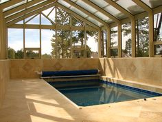 Beautiful Endless Pool installation, nice natural light