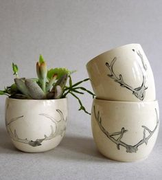 antler cups