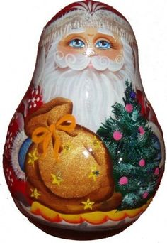 Santa Rolly Polly Bell raditional russian by Viktoriyasshop, $35.00