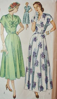 Vintage Sewing Pattern 1940s Fitted One by BluetreeSewingStudio, $48.00