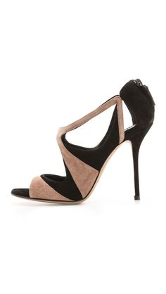 Casadei Suede Cutout Sandals | cynthia reccord