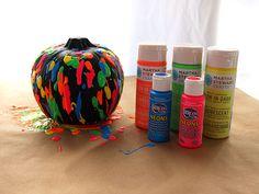 painted pumpkins, paint pumpkin