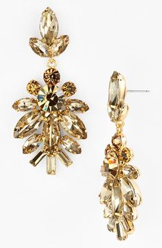 These sparkly stone drop earrings are perfect for the next big event.