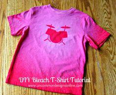 DIY Bleach T-Shirt Tutorial.