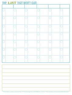 CLEAN MAMA: The List That Won't Quit - Free Printable (and 3 other free to do lists!)