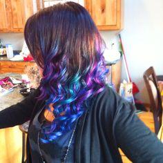 balls, hair colors, colored hair, color curl, curls, coloring, beauti, aunts, hair dip