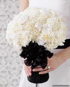Martha Stewart Weddings - Black and White Wedding