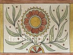 frakturs by k.a.s. Blank fraktur notecards with envelopes for sale by Kelsey A. Smith. #folkart #fraktur #flowers