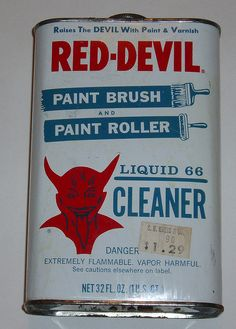 Red Devil Brush Cleaner by grickily, via Flickr