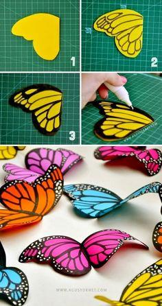 GreatiStuff: DIY Paper Butterflies