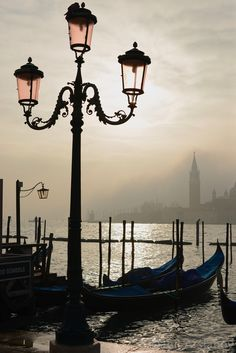 Pink lamps of Venice, Italy