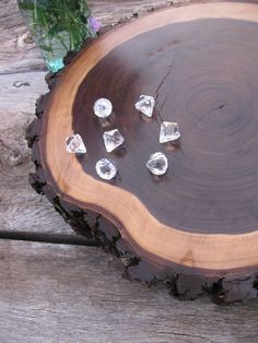 Tree Slice Cake Platter Perfect for Your Rustic by whippoorwheel,