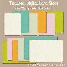 A Vegas Girl at Heart: Freebie Friday: Textured Digital Card Stock