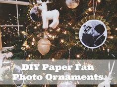 DIY Paper Fan Photo Ornaments