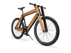 The wooden bike is supplied as a flat pack kit, and is available to buy this week for DIY fans
