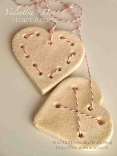 valentine's day salt dough heart attack