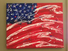 American Flag Canvas Wall Art Painting by DreamerCreations on Etsy, $125.00