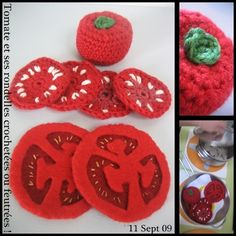 crocheted tomato and other PF