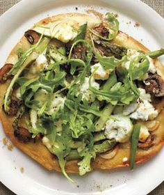 Asparagus and Ricotta Pizzas recipe