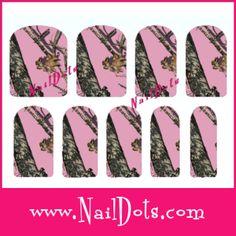 Pink Camo Nail Wraps
