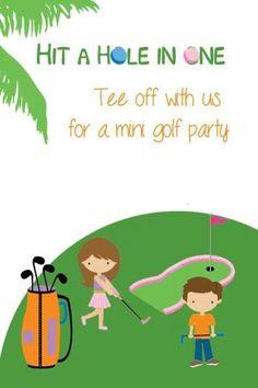 Miniature Golf Theme Birthday Party #party #birthday #decoration #cakes #favors #themedbirthday #games #printable #quotes #invitation #sayings #birthdaypartyideas #bpartyideas #minigolf