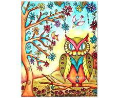 Owl Giclee Fine Art Print by Mary Ann Farley, #art, #print, #etsy, $20.00