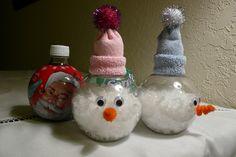Holiday Pop Bottle Craft Idea