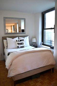 Nailhead Upholstered Headboard + Frame + Linen-Cotton Duvet + Shams from west elm