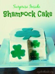 Shamrock Cake (surprise inside)