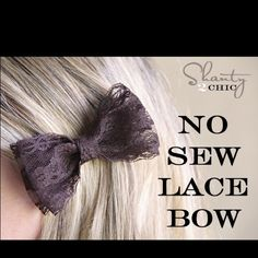 Lace Hair Bow- DIY no sew might try