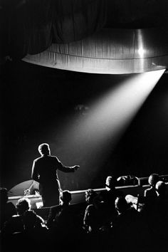 JFK addresses the crowd at the Inaugural gala, Jan. 19, 1961. Photo by Paul Schutzer.