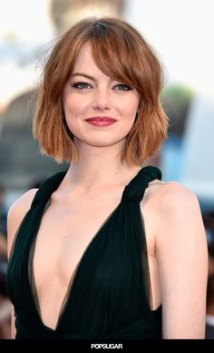 This lob on Emma Stone is sheer perfection. #fall #haircutideas