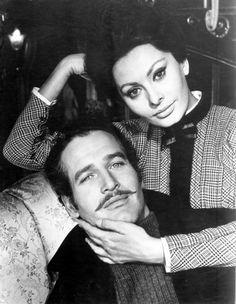 Sophia Loren and Paul Newman